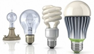 LED vs CLF vs Incandescent light bulb